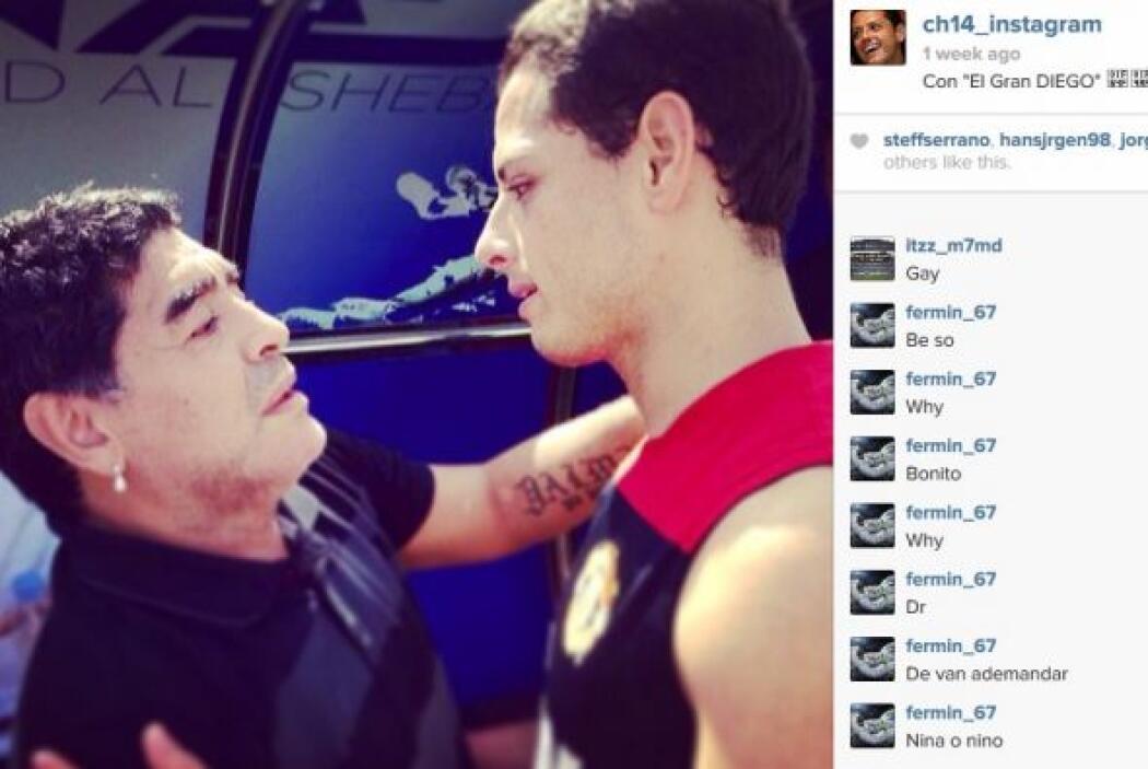 Javier Hernández no se olvida de su lado 'aficionado' y posteó una image...