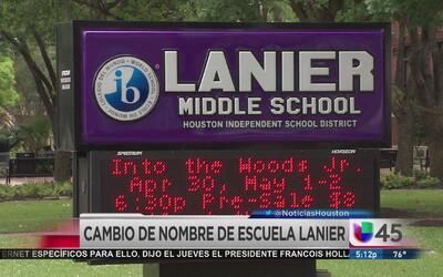 Opiniones divididas por cambio de nombre a escuela secundaria