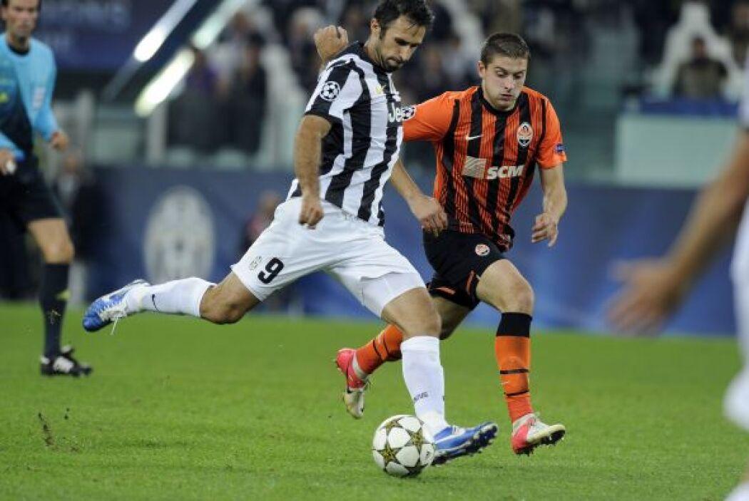 la Juventus fue local en su duelo ante el Shakhtar Donetsk ucraniano.