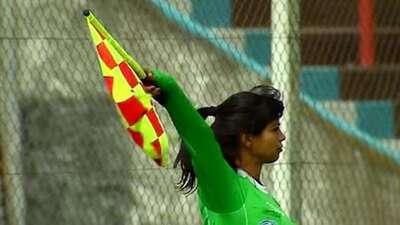 María Eugenia Rocco denunció agresión de un futbolista.