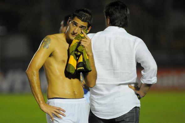 Tristeza en el jugador de Godoy Cruz, equipo que arrancó la copa...