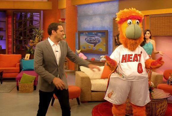 Las bailarinas del equipo de baloncesto de los Miami Heat llegaron a Des...