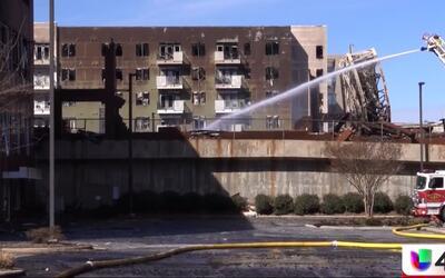 Voraz incendio provoca afectaciones en el centro de Raleigh