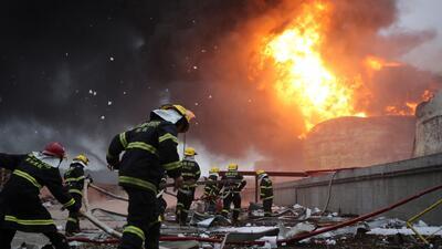 Secuelas de la explosión en China