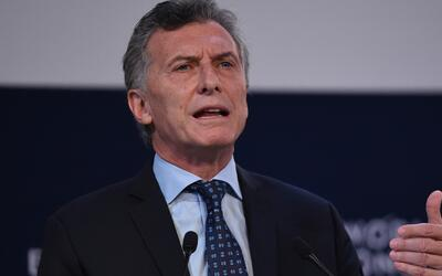 Mauricio Macri, presidente de Argentina, estuvo en Houston para hablar s...