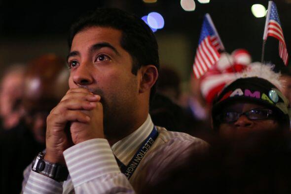El presidente Barack Obama ganó en los estados de Ohio, Nuevo Mexico, Ca...
