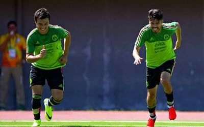 Erick Cubo Torres y Oribe Peralta selección México