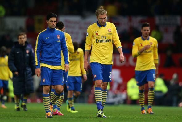 Vaya golpe de autoridad que recibía el Arsenal, que no pudo aprovechar l...