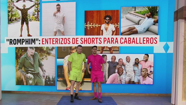 Rodolfo Landeros se lanzó a las pasarelas con la nueva moda del 'Romper'