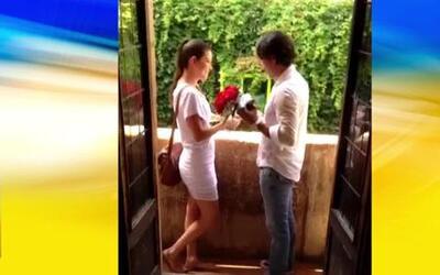Exclusiva: Video del momento en que Ana Patricia se comprometió con Luis