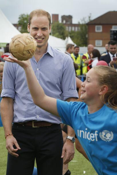 El duque de Cambridge estaba muy entretenido.