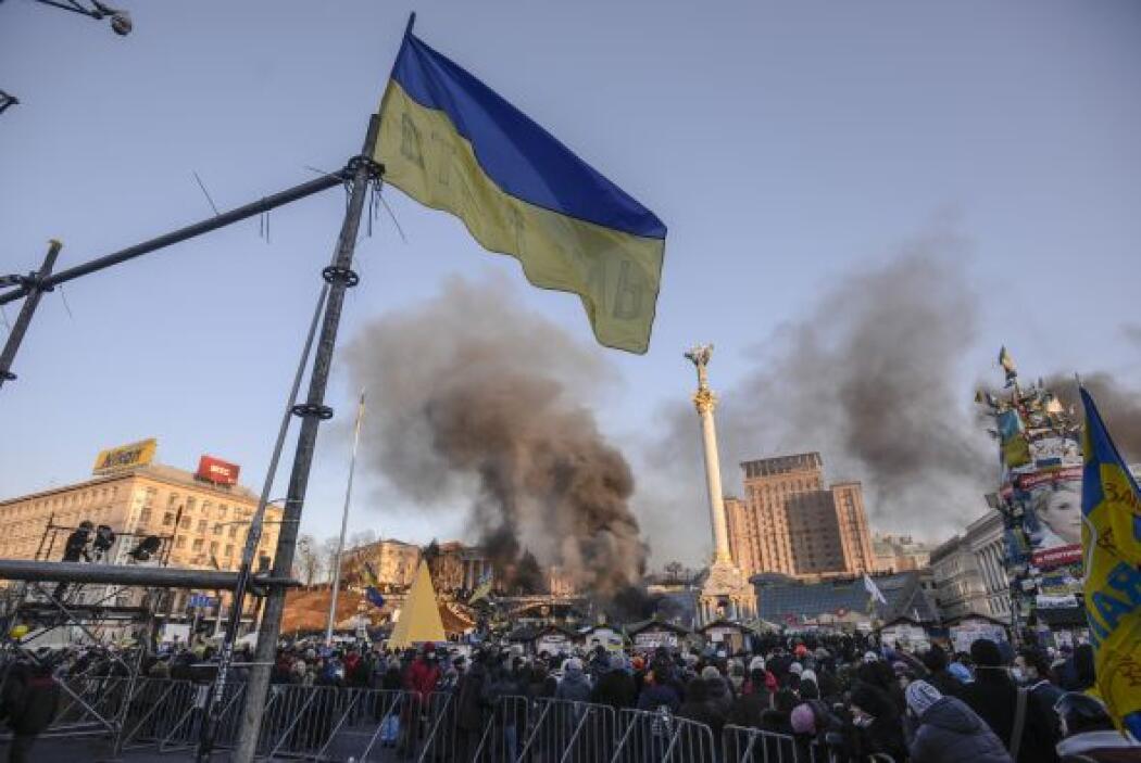 El martes marcharon miles de manifestantes hacia la Rada Suprema (Parlam...