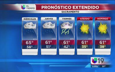 Sacramento continúa con tormentas