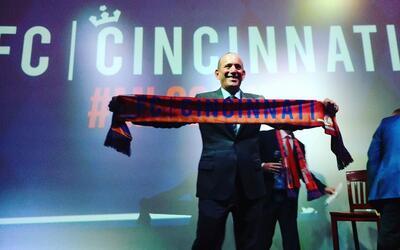 El comisionado Don Garber elogió a la ciudad de Cincinnati y a su...