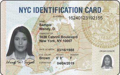 Modelo de tarjeta de identificación utilizado por todos los resid...