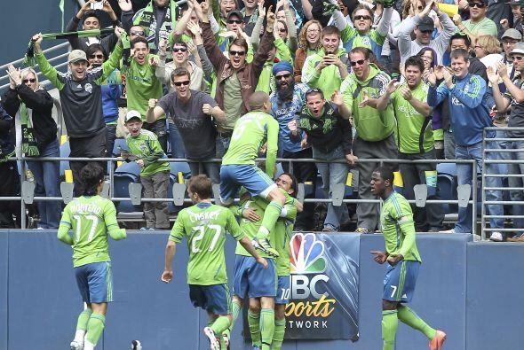 Este festejo fue del gol que le dio la victoria al Seattle Sounders sobr...
