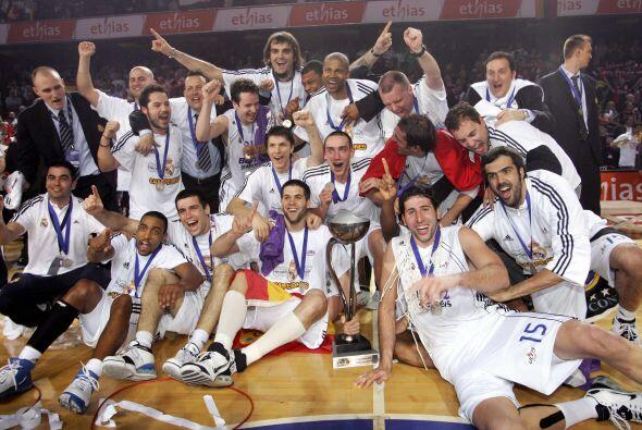 Con ocho títulos, el Real Madrid de baloncesto es el club con m&a...