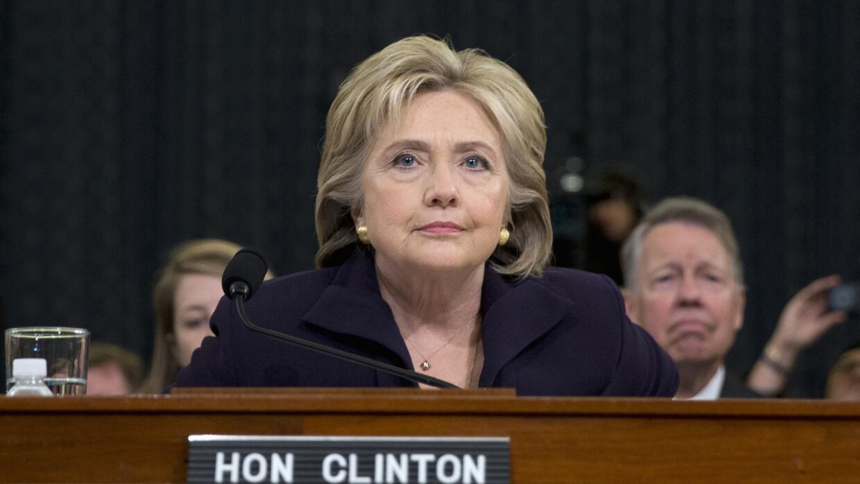 Hillary Clinton al comienzo del interrogatorio