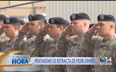 El Pentágono se retractó de retirar bonos a soldados de la Guardia Nacional