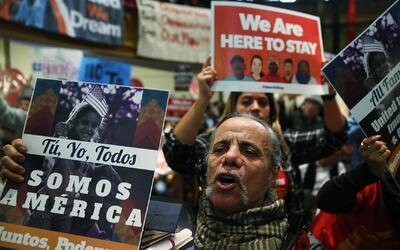 Protestas masivas por toda la nación: inmigrantes le piden a Trump que a...
