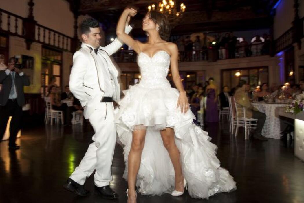 La pareja abrió la pista con la canción 'Your body is a wonderland', de...