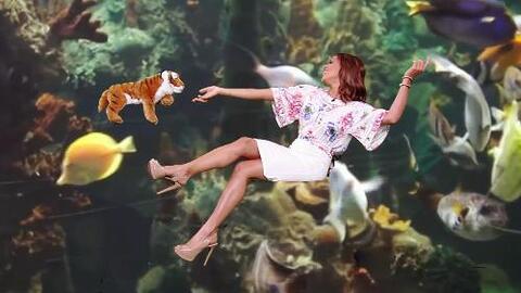 Con todo y tigre: Francisca Lachapel se tomó una foto bajo el agua como...