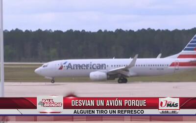 Desvían un avión a causa de un refresco