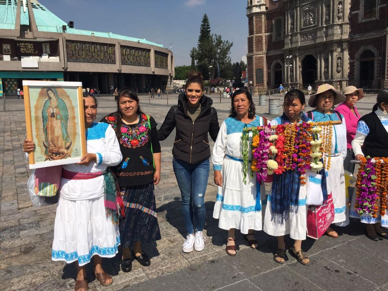 Francisca Lachapel en la Basílica de Guadalupe Despierta América
