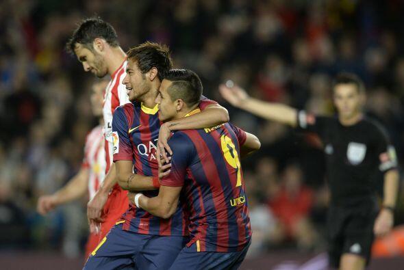 No pasaron muchos minutos para que el Camp Nou cantara el primer gol, de...