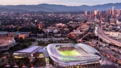 Renders del posible estadio de LAFC, equipo de expansión de la MLS