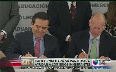 Jerry Brown se compromete con los niños de la frontera