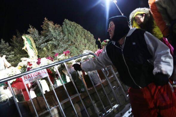 Ni el intenso frío detuvó a los peregrinos que llegaron hasta el Cerrito...