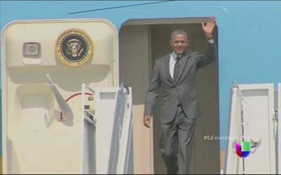 Obama habló sobre niños migrantes con el gobernador de Texas