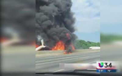 Revelan informe de avioneta estrellada en Atlanta