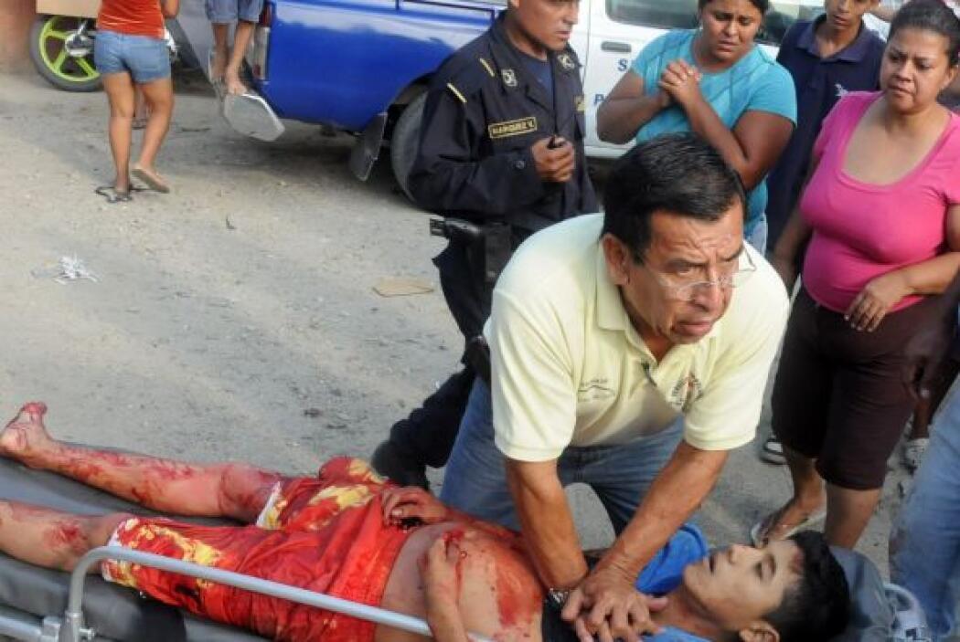 La violencia también azota con fiereza a Guatemala, tercer país del llam...