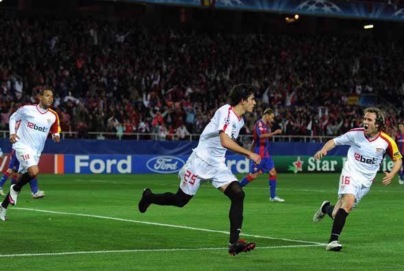 Dos minutos más tarde, al 40, el argentino Diego Perotti igual&oa...