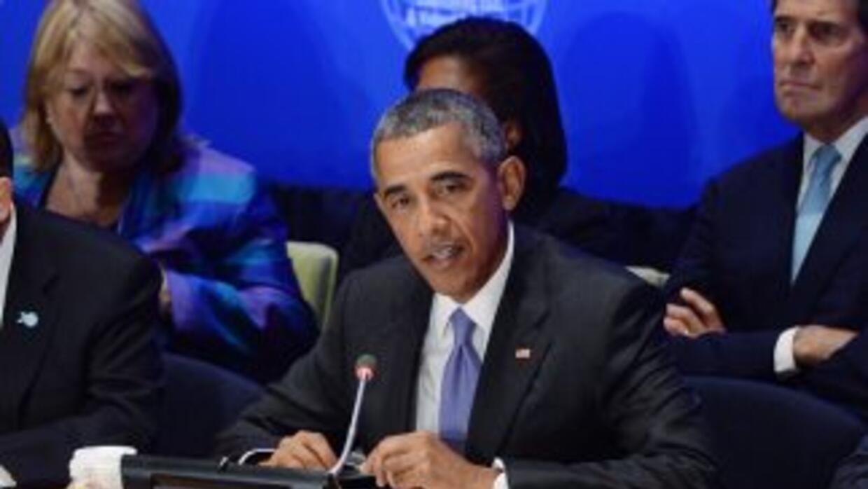 El presidente Barack Obama en la cumbre para combatir a ISIS