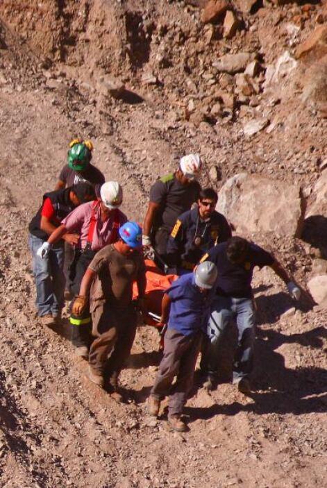 La mina Los Reyes, lugar del accidente, ubicada aproximadamente a 50 kil...