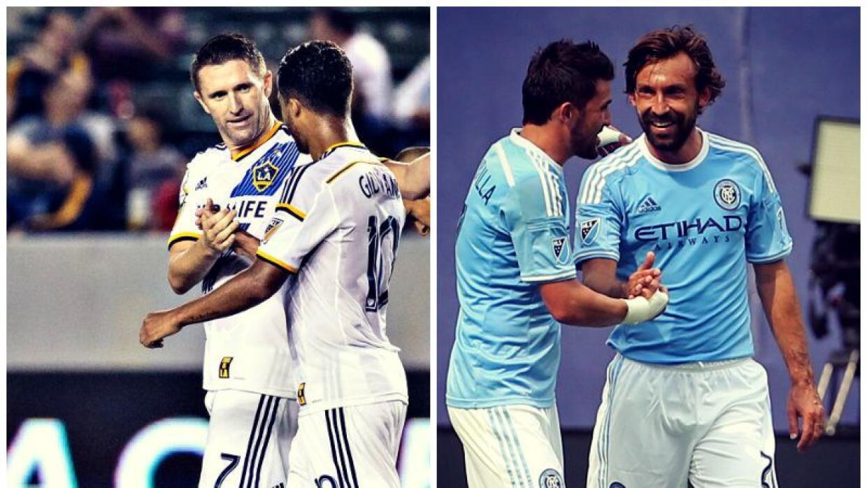 Juadores de LA Galaxy y New York City