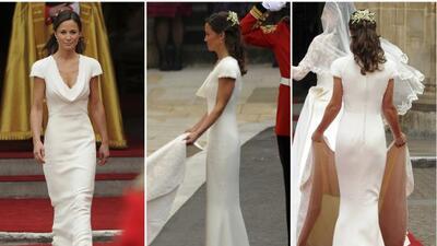 El vestido de dama de honor en la Boda Real.