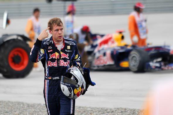 Vettel se fue de la pista criticando a su compañero de equipo, a quien t...