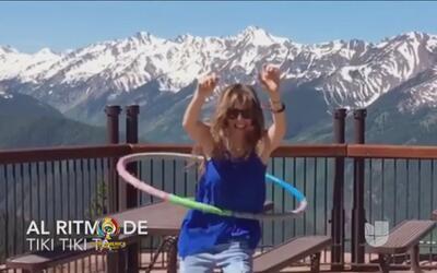 Así es cómo Thalía mantiene su cintura de avispa, bailando el ula ula