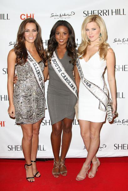 Miss Illinois, Stacie Juris; Miss Carolina del Sur, Megan Pinckney y Mis...