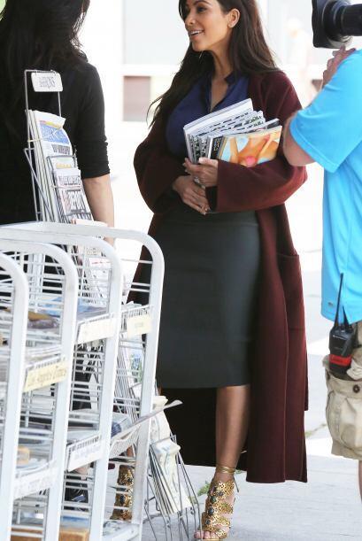 Kim quería todas sus portadas de la publicación, en la que sale con su a...