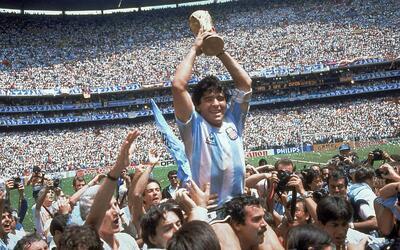 Maradona fue el capitán de Argentina en México 1986.