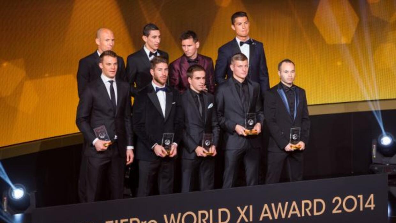 9 de los 11 jugadores que forman parte del equipo ideal del 2014, ya que...