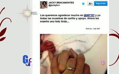 La tierna fotografía de Jackie Bracamonte con las manos de su esposo y s...