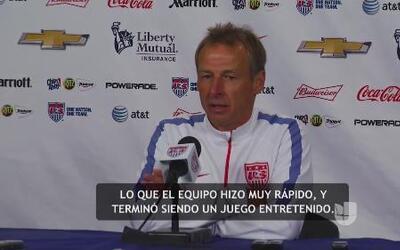 "Jurgen Klinsamnn: ""Terminó siendo un partido entretenido"""