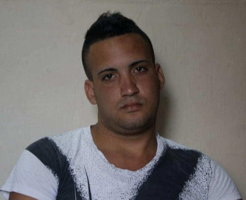 Miguel Alberto Ulloa en la foto.  En el operativo policial en Cojímar, t...
