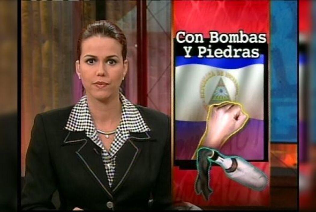 Maria Celeste Arraras durante los inicios de Primer Impacto